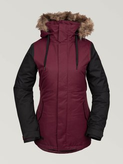 Volcom Womens Fawn Insulated Jacket - Scarlet - Scarlet - XS