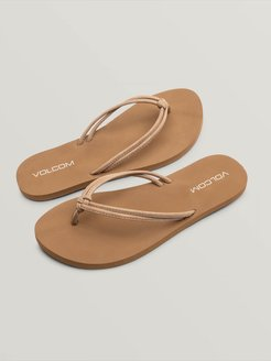 Volcom Forever And Ever Ii Sandals - Tan - Tan - 6