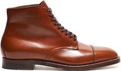 Straight Tip Boot in Burnished Tan Calfskin