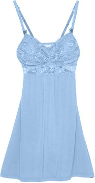 Never Say Never Maternity Mommie Babydoll | Large Blue Jersey Babydoll