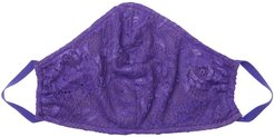 Never Say Never V Face Mask | One Size Purple Lace Accessory