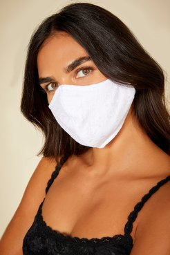 Never Say Never V Face Mask | One Size White Lace Accessory