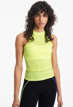 Rivington Ribbed Tank Top in Highlighter Yellow Bandier