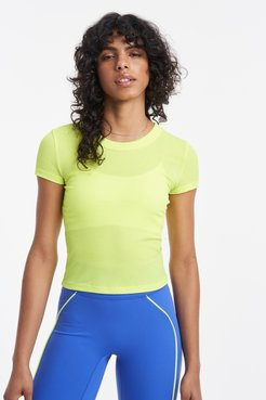 Rivington Scoop Neck T-Shirt in Highlighter Yellow Bandier