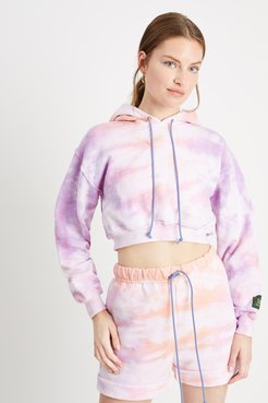 Cropped Hoodie in Pastel Sunset Bandier