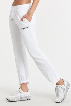 Track Pants in Optic White Bandier