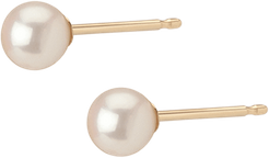 Pearl Studs - Yellow - 14K - One Size