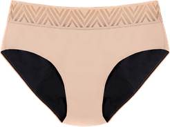 Hiphugger Period Underwear - Beige In Sizes XXS-3XL Undies Afterpay Payment Options