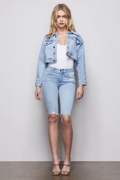 Good Bermuda Notched Blue413 Ripped Jeans, Plus Size 18