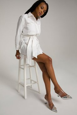 Committed To Fit Dress White001, Plus Size 7