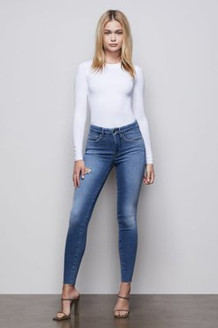 Good Legs Blue372 High Rise Skinny Ripped Jeans, Plus Size 22