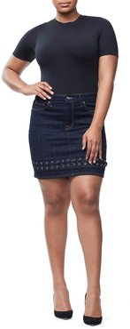 The Lace Up Mini Blue158 Skirt, Size 6 | 28