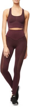 High Waisted The Knockout Seamless Legging Bordeaux001, Size 0/1