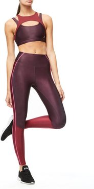 High Waisted The Electric Feel Legging Bordeaux001, Plus Size 7