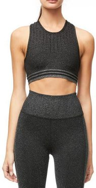The Game Point Seamless Crop Top Black001, Size 6-7