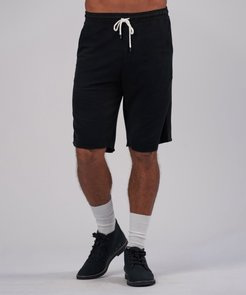 Pique Pull-On Shorts - Black