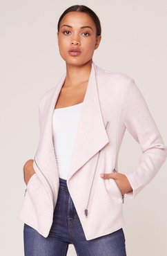 Off the Clock Brushed Knit Zip Front Jacket