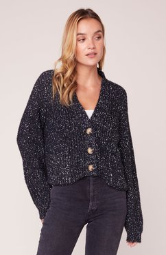 Speckle Occasion Cropped Cardigan