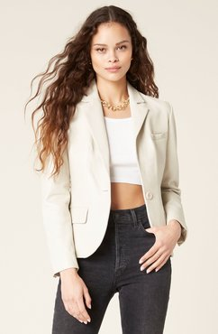 Life On The Edge Leather Blazer