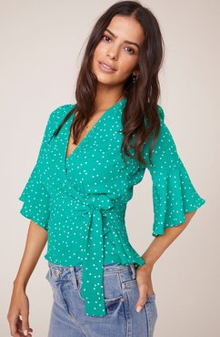 Dotty By Nature Wrap Top