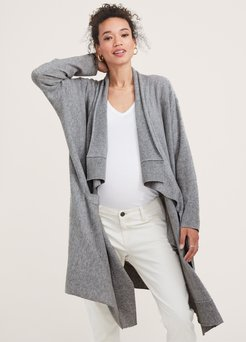 HATCH Maternity The Airplane Cardigan, Heather Grey, Size O/S