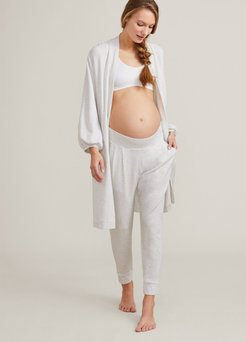 HATCH Maternity The Nesting Robe, Oat Melange, Size Petite