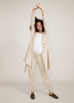HATCH Maternity The Cashmere Jogger, wheat, Size 0