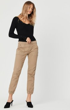 Ivy Slim Cargo Pants In Cappuccino Twill