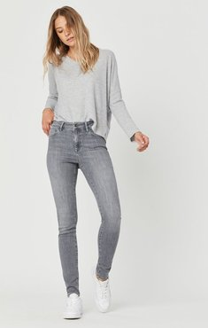 Alissa Super Skinny Jeans In Light Grey Supersoft