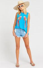 Mikey Muscle Tank ~ Polly Says Graphic