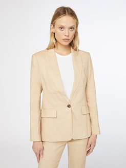 Single Breasted Blazer Sand Size 10