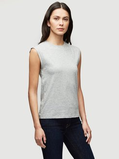 Le Mid Rise Muscle Tee Gris Heather Size S