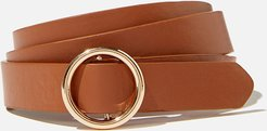 Rubi - Round About Buckle Belt - Tan