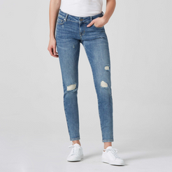 Low Rise Skinny Jeans in Light Wash