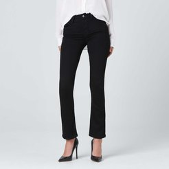Mid Rise Skinny Bootcut Jeans in Black
