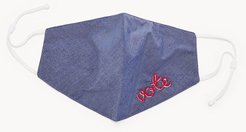 Chambray Vote Embroidered Unisex Face Mask  FCU0342470