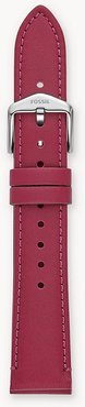 18Mm Raspberry Leather Strap