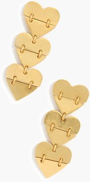 Hinged Heart Earrings
