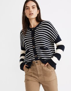 Stripe-Play Colburne Cardigan Sweater in Coziest Textured Yarn