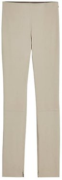 Bristol Leather Leggings - Taupe Grey - Size 6