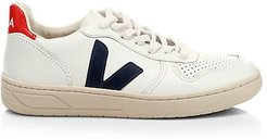 V-10 Leather Low-Top Sneakers - White - Size 41 (10)