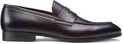 Leather Penny Loafers - Brown - Size 7 D