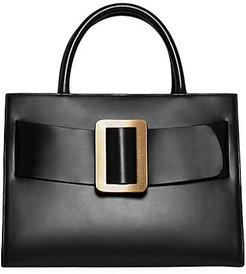 Bobby Leather Tote - Black