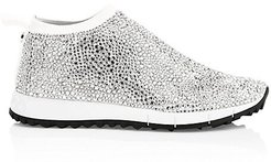 Norway Jewelled Mesh Knit Sneakers - White - Size 37 (7)