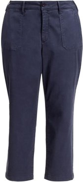 Straight Leg Ankle Cut Chinos - Peacoat - Size 20 W
