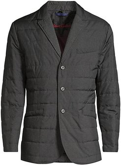 Classic-Fit Tech Downhill Quilted Jacket - Charcoal - Size XL