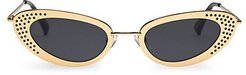 62MM The Royale Cat-Eye Sunglasses - Bright Gold