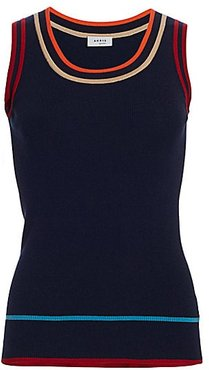 Multi-Color Sleeveless Stretch-Wool Knit Top - Night Sky - Size 4