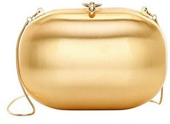 Elina 18K Goldplated Satin Clutch - Gold