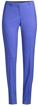 Tilunana Regular-Fit Straight-Leg Stretch Wool Trousers - Klein Blue